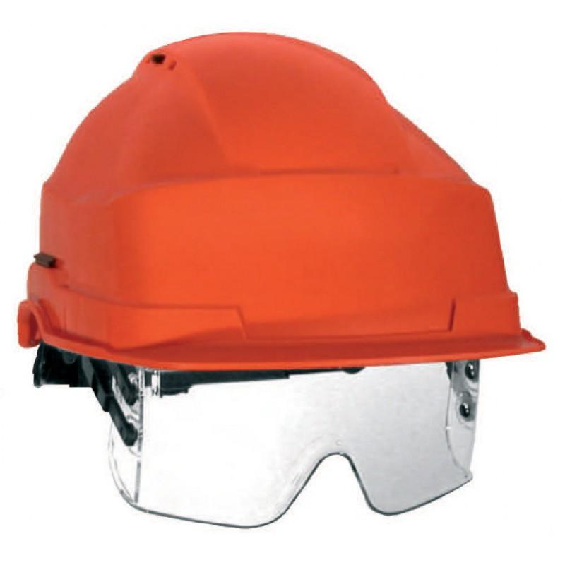 casque de chantier iris 2 lunette masque incolore workstore. Black Bedroom Furniture Sets. Home Design Ideas