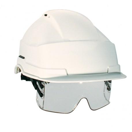 Casque de chantier iris 2 lunette masque incolore workstore - Lunette de chantier ...
