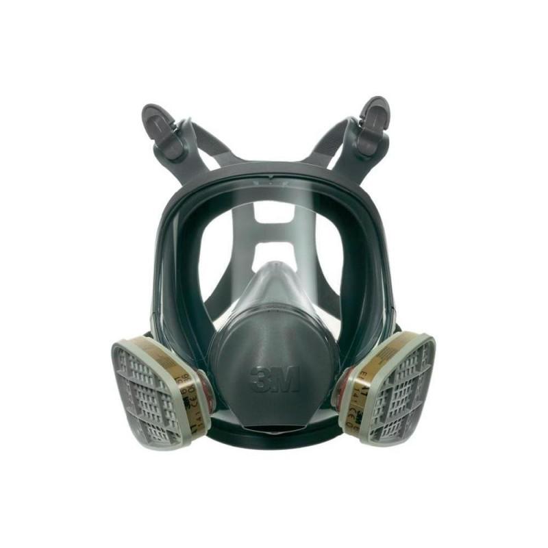 masque complet 3m serie 6000 anti poussieres anti gaz bi filtres workstore. Black Bedroom Furniture Sets. Home Design Ideas